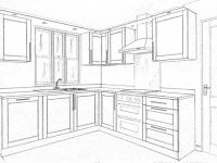 İç Mimarlık Mutfak Çizimleri